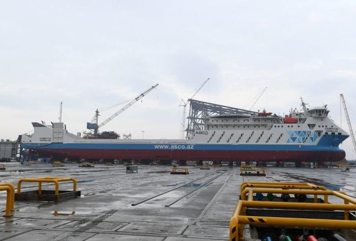 Bakı gəmiqayırma zavodunda inşa olunmuş ilk tanker istismara verildi - FOTO, fotoşəkil-10