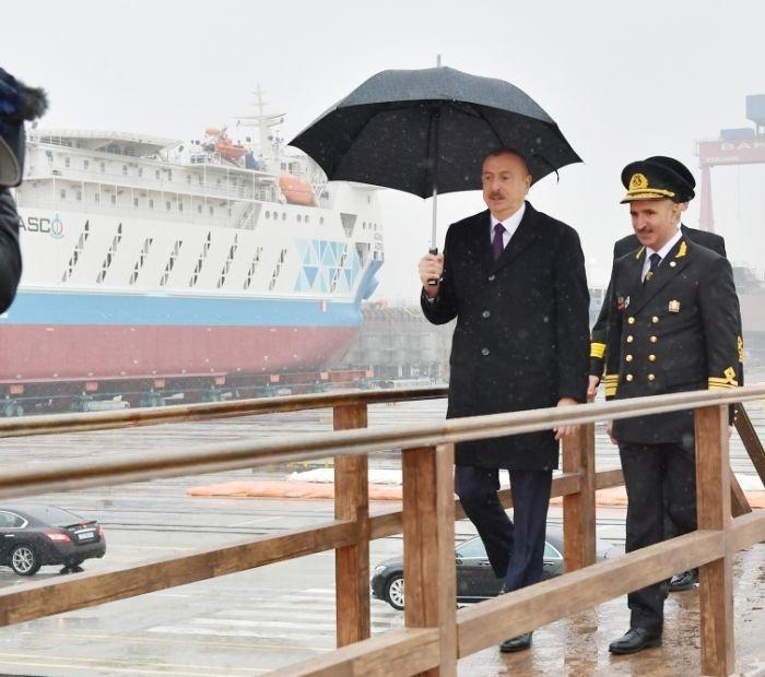 Bakı gəmiqayırma zavodunda inşa olunmuş ilk tanker istismara verildi - FOTO, fotoşəkil-2