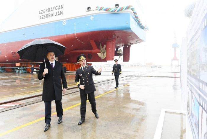 Bakı gəmiqayırma zavodunda inşa olunmuş ilk tanker istismara verildi - FOTO, fotoşəkil-5