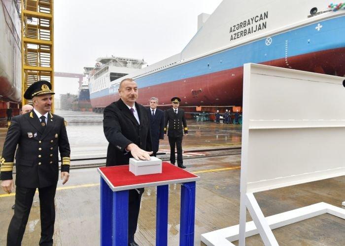 Bakı gəmiqayırma zavodunda inşa olunmuş ilk tanker istismara verildi - FOTO, fotoşəkil-9