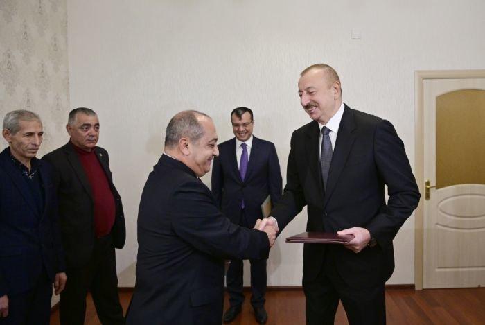 İlham Əliyev Bakıda Qarabağ müharibəsi əlillərinə mənzil verdi - FOTO, fotoşəkil-1