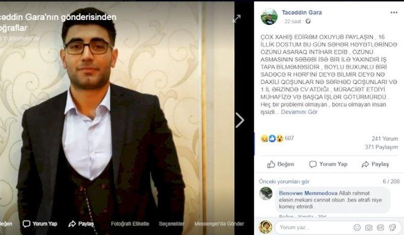 """Bakıda 24 yaşlı gəncin intihar səbəbi - """"R"""" deyə bilmirdi, fotoşəkil-1"""
