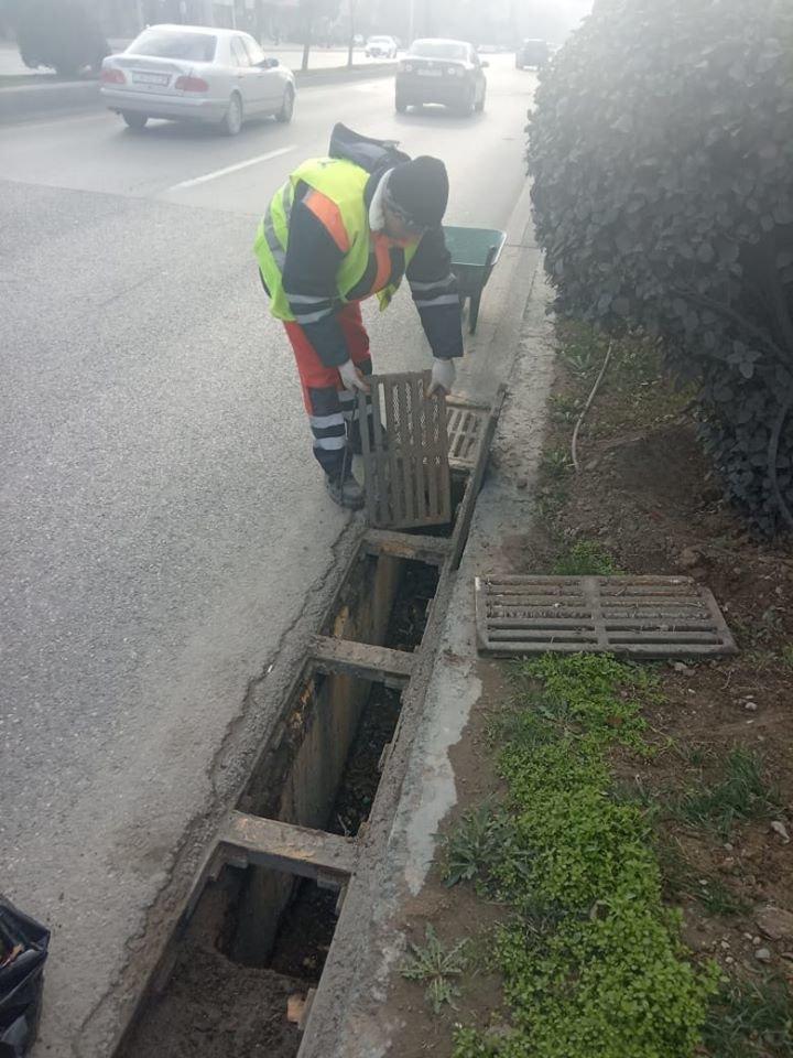 Bakının tunel və keçidlərdə təmizlik işləri - FOTO, fotoşəkil-12
