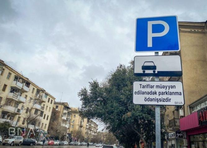 Bakı yollarında yeni lövhələr quraşdırıldı: Parklanma ödənişsizdir! - FOTO, fotoşəkil-2