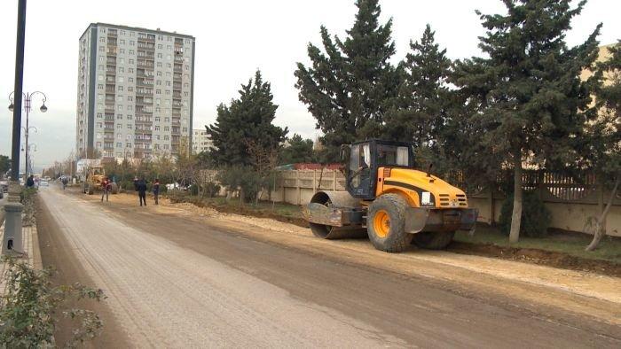 Xırdalanın əsas yolunun təmirinə başlandı - FOTO, fotoşəkil-2