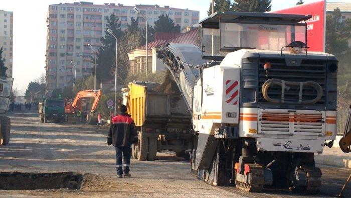 Xırdalanın əsas yolunun təmirinə başlandı - FOTO, fotoşəkil-6