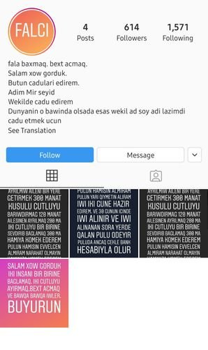 """Bu səhifələrə aldanmayın: """"İnstaqram"""" istifadəçilərinə XƏBƏRDARLIQ - FOTO, fotoşəkil-1"""