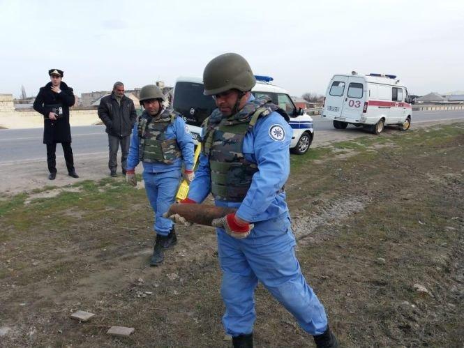 Bakı-Sumqayıt yolunda top mərmisi tapılıb - FOTO, fotoşəkil-3