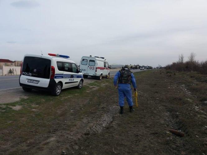 Bakı-Sumqayıt yolunda top mərmisi tapılıb - FOTO, fotoşəkil-4