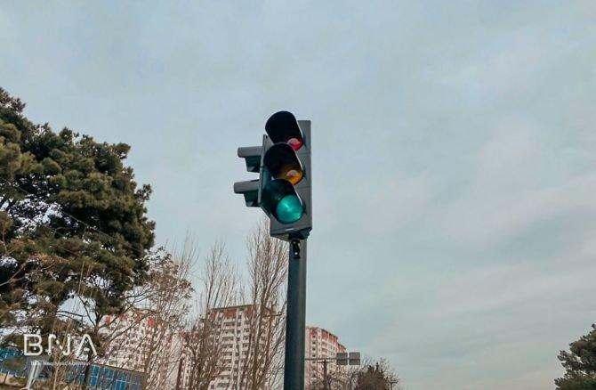 Bakıda daha bir yolda hərəkət dəyişdirildi - FOTO, fotoşəkil-4