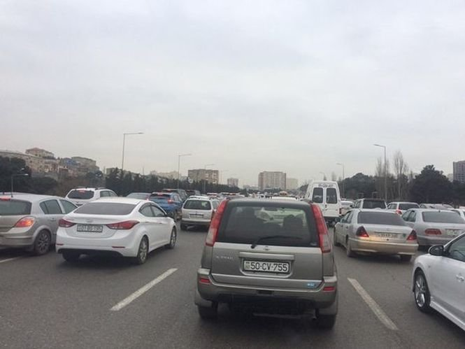 Bakı-Sumqayıt yolunda böyük tıxac - FOTO, fotoşəkil-3