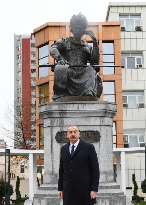 Şah İsmayıl Xətainin heykəli köçürüldü, yeni park salındı - FOTO, fotoşəkil-2