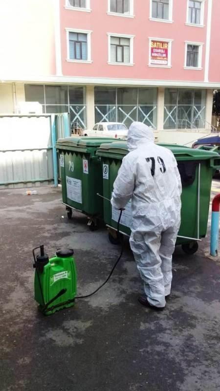 Bakıda yaşayış binaları dezinfeksiya edilir - FOTO, fotoşəkil-1