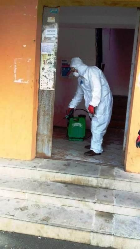 Bakıda yaşayış binaları dezinfeksiya edilir - FOTO, fotoşəkil-8