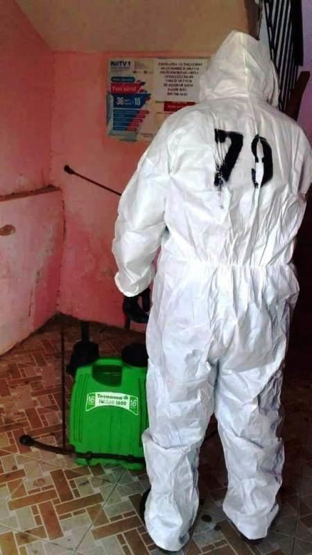 Bakıda yaşayış binaları dezinfeksiya edilir - FOTO, fotoşəkil-7