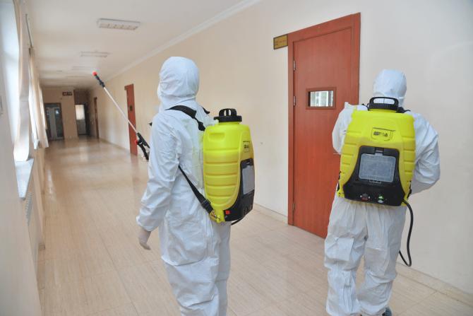 Məktəblərdə dezinfeksiya işləri genişləndirilib - FOTO, fotoşəkil-4