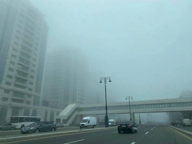 Bakıda uzunmüddətli dumanın SƏBƏBİ - FOTO, fotoşəkil-3