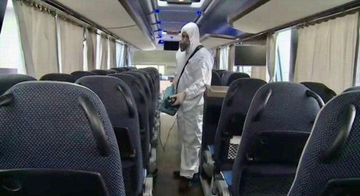 Bakı avtovağzalında hər gün 300-dən çox avtobus dezinfeksiya olunur - FOTO, fotoşəkil-3