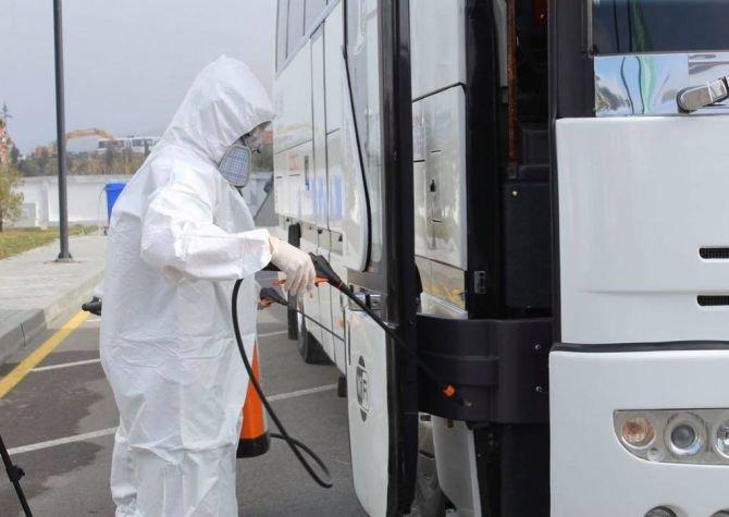 Bakı avtovağzalında hər gün 300-dən çox avtobus dezinfeksiya olunur - FOTO, fotoşəkil-4