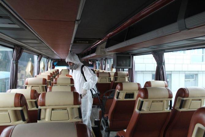 Bakı avtovağzalında hər gün 300-dən çox avtobus dezinfeksiya olunur - FOTO, fotoşəkil-6