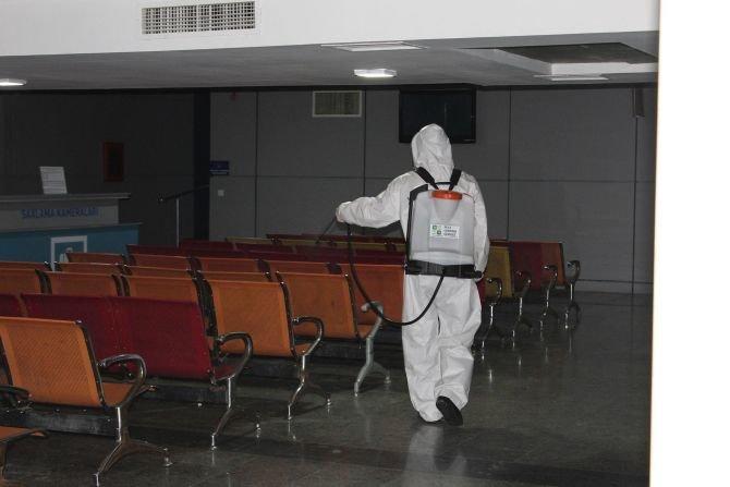 Bakı avtovağzalında hər gün 300-dən çox avtobus dezinfeksiya olunur - FOTO, fotoşəkil-7