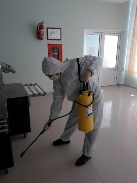 Sosial xidmət müəssisələrində də dezinfeksiya işləri aparılır - FOTO, fotoşəkil-1