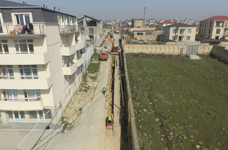 Badamdarın sürüşmə zonasında yeni su şəbəkələri yaradılır - FOTO, fotoşəkil-2