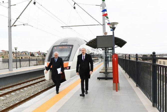 Görədil və Novxanıda dəmiryol stansiyalarının açılışı olub - FOTO, fotoşəkil-2