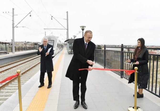 Görədil və Novxanıda dəmiryol stansiyalarının açılışı olub - FOTO, fotoşəkil-3