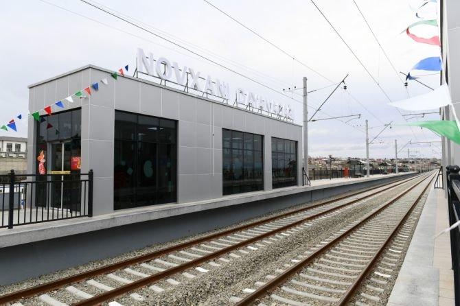 Görədil və Novxanıda dəmiryol stansiyalarının açılışı olub - FOTO, fotoşəkil-6