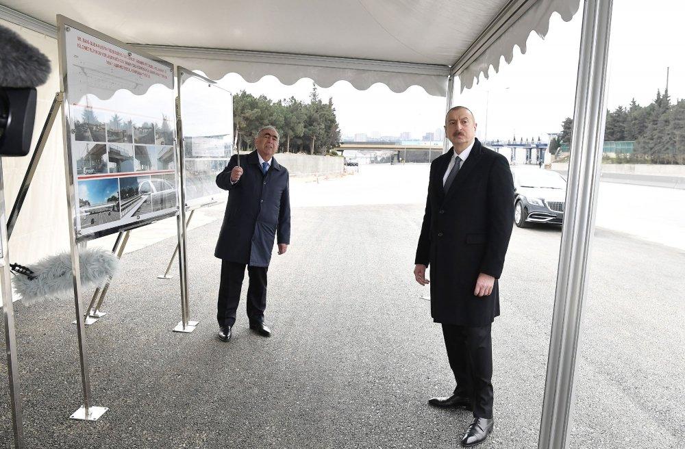 İlham Əliyev Bakı-Sumqayıt yolunun genişləndirilməsi işləri ilə tanış olub - FOTO, fotoşəkil-5