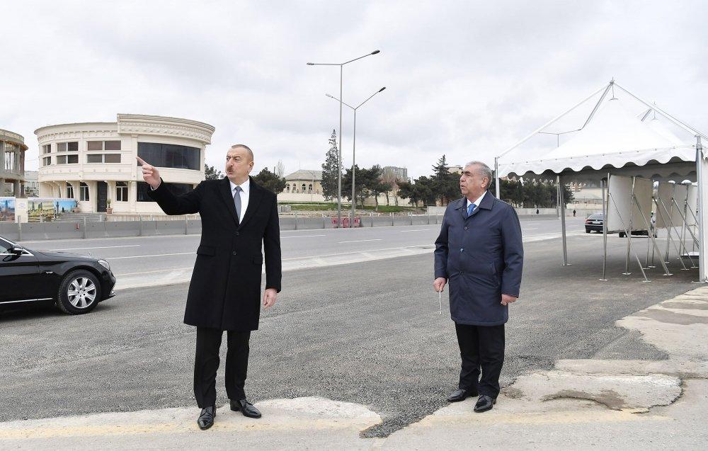 İlham Əliyev Bakı-Sumqayıt yolunun genişləndirilməsi işləri ilə tanış olub - FOTO, fotoşəkil-9
