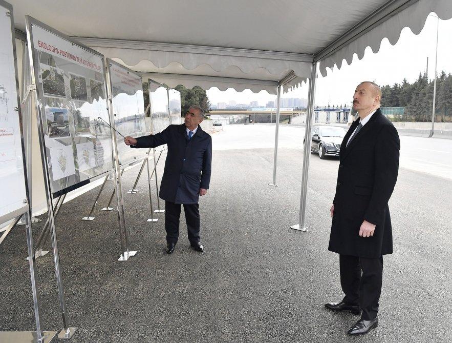 İlham Əliyev Bakı-Sumqayıt yolunun genişləndirilməsi işləri ilə tanış olub - FOTO, fotoşəkil-10