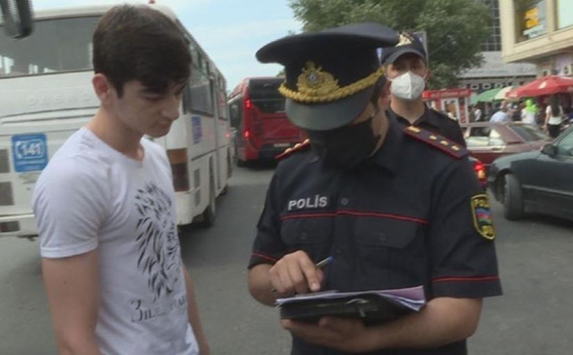 Bakı polisi karantin rejimini pozanları cərimələyir - FOTO/VİDEO, fotoşəkil-5