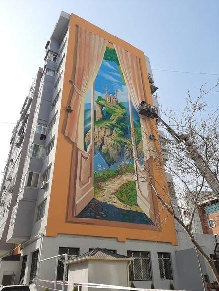 Bakıda boz binalar qraffiti ilə bəzəndi - FOTO, fotoşəkil-4