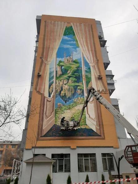 Bakıda boz binalar qraffiti ilə bəzəndi - FOTO, fotoşəkil-6