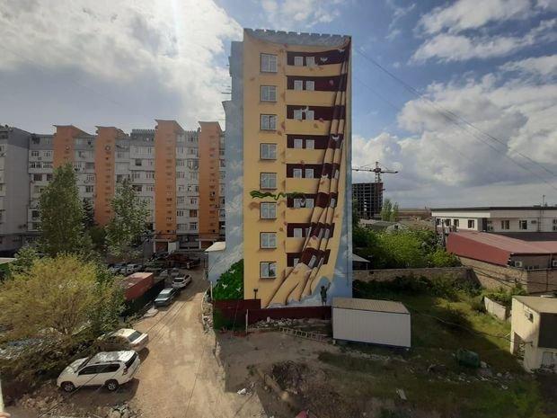Bakıda boz binalar qraffiti ilə bəzəndi - FOTO, fotoşəkil-7