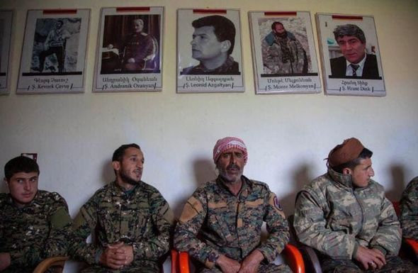 Ermənilərlə birlikdə vuruşan suriyalı terrorçular - FOTO, fotoşəkil-1